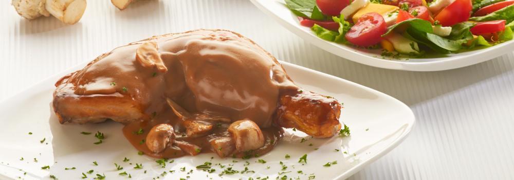 Receta Pollo en salsa de champiñones