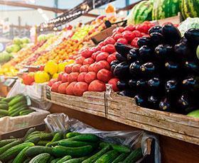 mercado con mas frutas
