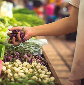 verduras mercado frutas