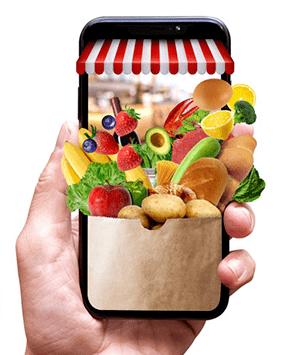hacer mercado en una app