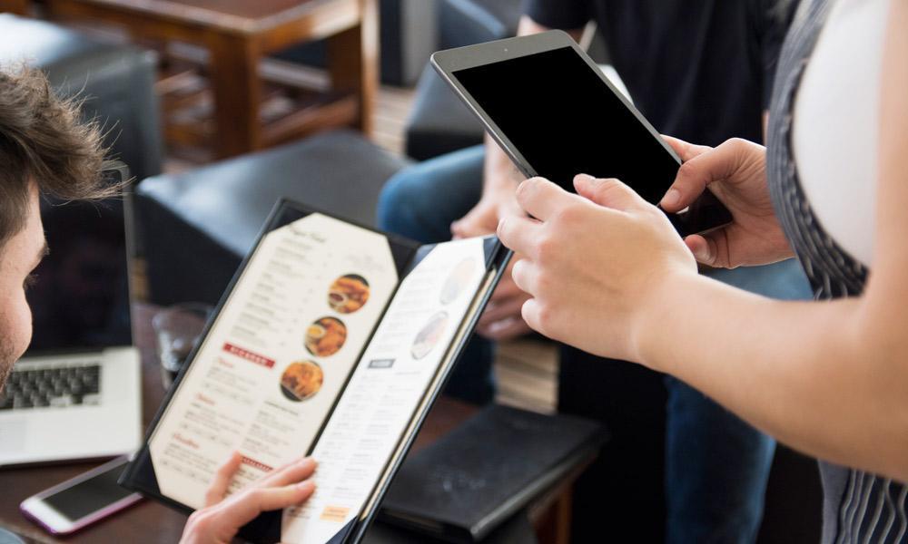 personalizacion del menu en restaurante
