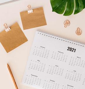 Planeación en calendario de vacaciones