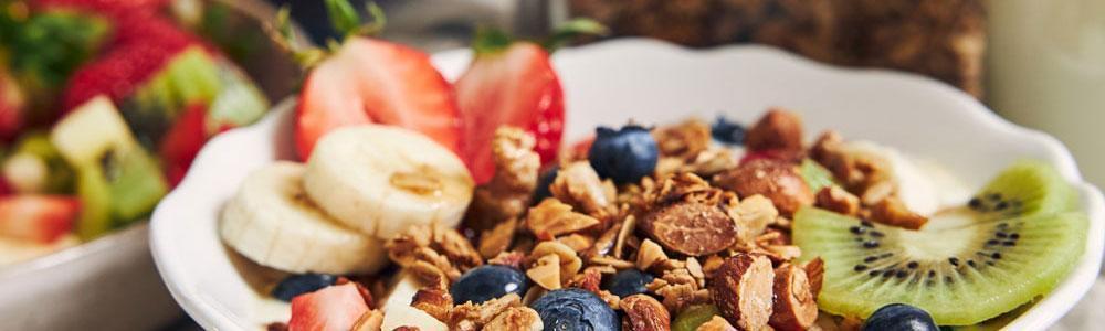 Postre desayuno de comida saludable
